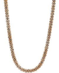 Anne Klein - Tubular Pave Collar Necklace - Lyst