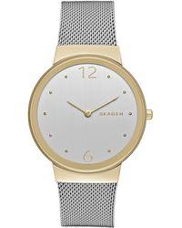 Skagen | Women's Freja Stainless Steel Mesh Bracelet Watch 34mm Skw2381 | Lyst