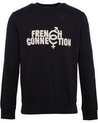 French Connection - Men's Connection Crew Neck Sweatshirt - Lyst