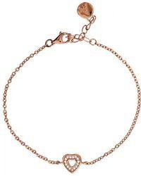 Azendi | Rose Vermeil Circle Bracelet | Lyst