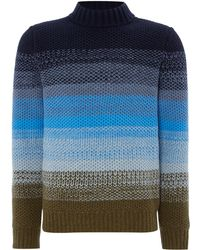 Perry Ellis - Knitted Crew-neck Wool-blend Jumper - Lyst