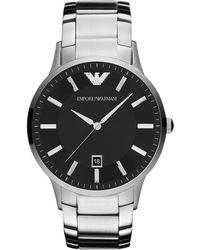 Emporio Armani - Ar2457 Classic Silver Mens Bracelet Watch - Lyst