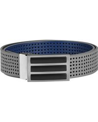 adidas - 3-stripes Perforated Reversible Belt - Lyst