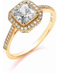 Bouton - Delicate Square Ring Size K - Lyst