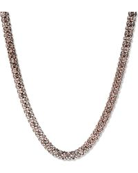 Anne Klein - Rose Gold Pave Necklace - Lyst
