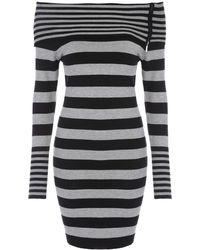 Jane Norman | Stripe Bardot Jumper Dress | Lyst