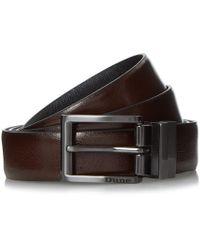 Dune - Orkley Saffiano Leather Reversible Belt - Lyst