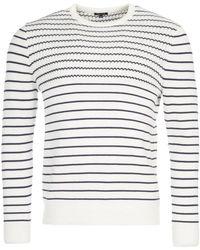 Eden Park - Striped Cotton Jumper - Lyst