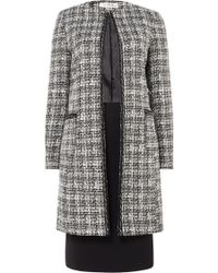Tahari - Plaid Skirt Suit With Chain Trim Detail - Lyst