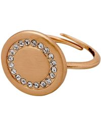 Pilgrim - Impressive Rose Gold Ring With Crystals - Lyst