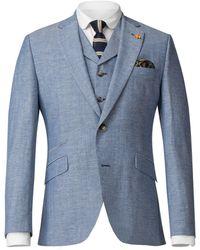 Gibson - Men's Pale Blue Jacket With Linen Flec - Lyst