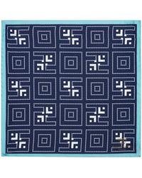 Richard James - Dotted Maze Silk Pocket Square - Lyst