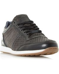 Dune - Texas Mesh Panel Lace Up Trainers - Lyst