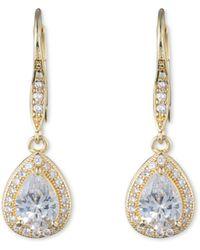 Anne Klein - Pear Eurowire Earrings - Lyst