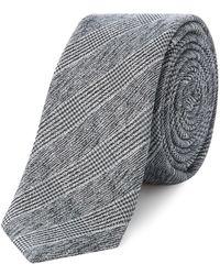 Label Lab - Margarita Woven Grey Check Tie - Lyst
