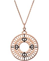 Links of London - Timeless 18kt Rose Gold Vermeil & Black Sapphire - Lyst