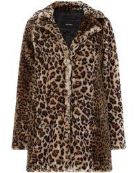 Vero Moda - Debora Faux Fur Coat - Lyst