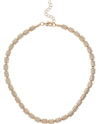Mikey - London Small Cylinder Crystal Bead Necklace - Lyst