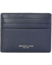 Michael Kors - Harrison Saffiano Leather Card Holder - Lyst