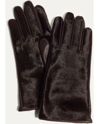 Karen Millen | Printed Leather Gloves | Lyst