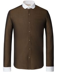 Gibson - Men's Olive Penny Round Shirt - Lyst