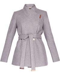 Ted Baker   Keyla Short Wrap Cashmere-blend Coat   Lyst