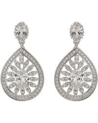 Mikey - Filigree Cubic Drop Centre Earring - Lyst
