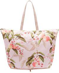 Ted Baker - Peach Blossom Foldaway Shopper Bag - Lyst