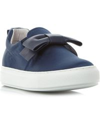 Dune Black - Entrance Satin Bow Elasticated Trainers - Lyst