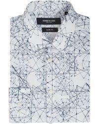 Kenneth Cole - Men's Miama Slim Fit Geometric Printed Shirt - Lyst