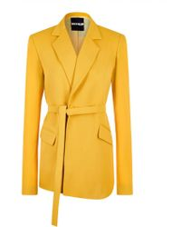 House of Holland - Yellow Tailored Suit Jacket - Lyst