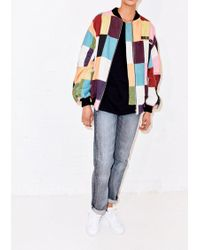 House of Holland - Printed Patchwork Bomber Jacket - Lyst