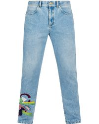 House of Holland - Addison Embroidered Jeans - Lyst