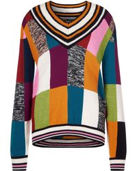 House of Holland - Knitted Patchwork Crickett Jumper - Lyst