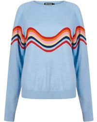House of Holland - Wavy Peace Cut Out Jumper - Lyst