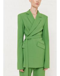House of Holland - Green Tailored Suit Jacket - Lyst