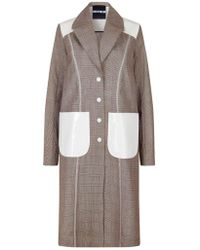 House of Holland - Prince Of Wales Longline Jacket With Power Patch - Lyst
