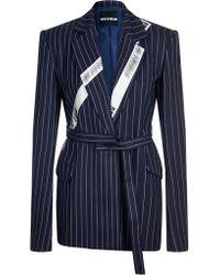 House of Holland - Pinstripe Tailored Blazer - Lyst