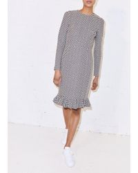 House of Holland - Monochrome Weave Cigarette Dress - Lyst