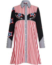 House of Holland - Oversized Stars And Stripes Shirt Dress - Lyst