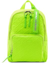 House of Holland - 'hoh' Neon Green Embroidered Backpack - Lyst