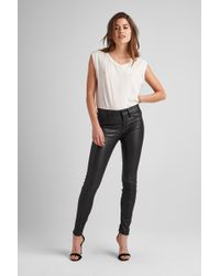 Hudson Jeans - Nico Leather Super Skinny - Lyst