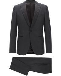BOSS - Extra-slim-fit Three-piece Tuxedo With Silk Trims - Lyst