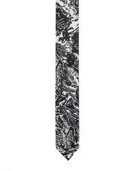 HUGO - Straight-cut Tie In Printed Silk Twill - Lyst