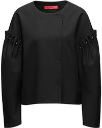 HUGO - Oversized-fit Jacket With Pearl Embellishments - Lyst