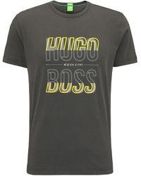BOSS - Regular-fit T-shirt In Single Jersey - Lyst