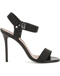 BOSS - Sandals In Italian Leather And Canvas - Lyst