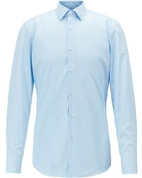 c52a635db H&M Shirt With Bleached Details in Black for Men - Lyst