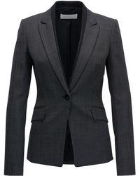 BOSS - Nailhead Stretch Wool Blazer | Jeresa - Lyst