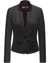 HUGO - Cotton-blend Regular-fit Jacket With Zip Pockets - Lyst